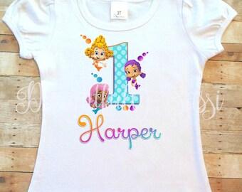 Bubble Guppies Birthday Shirt, Bubble Guppies, Personalized Birthday Shirt