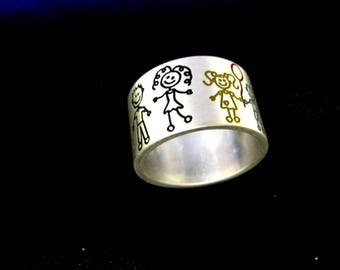 band Silver ring family
