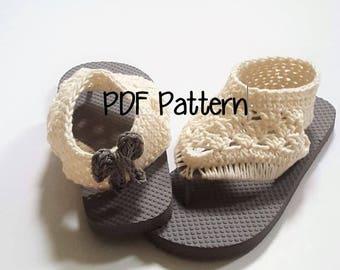 Gladiator Flip Flop Pattern Crochet, Gladiator Crochet Flip Flop Pattern, Crochet Flip Flop Pattern, Crochet Sandal Pattern, Crochet