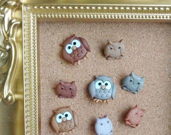 Beautiful Owl Push Pins, Owl Thumb Tack, Woodland Creatures, Woodland Pin, Bird Push