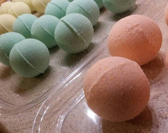 "Choose Two (2) Handmade Essential Oil Deluxe 3"" Bath Bombs"