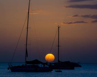 Boqueron Sunset Landscape Digital Photograph