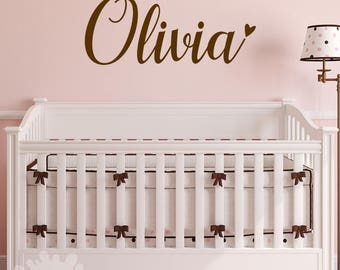 Girls Name Decal / Custom Name Sticker / Personalized Wall Decal / Baby Name  Decal / Part 74