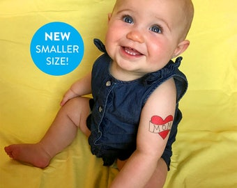 valentines day temporary tattoo funny gift for mom SMALLER SIZE fake tattoo red heart tattoo photoshoot prop valentine photos for mum