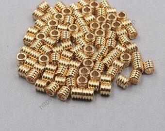 20Pcs, 9mm Raw Brass Tube Beads GY-GX288