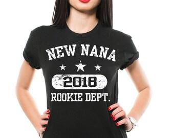 New Nana 2018 T-Shirt Gift For Grandmother Grandma Mother mom Funny Family Tee Shirt
