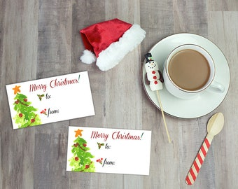 Christmas gift tag, Merry Christmas gifting label, Printable digital gift tags, Instant Download