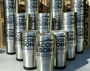 Custom Engraving on Your Cup - Tumblers - Laser Engraved - Personalized - Business Logo  - Business - Corporate Gifts - Client Gifts