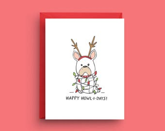 Items similar to french bulldog christmas card on etsy dog christmas card bulldog christmas card french bulldog christmas card french bulldog card m4hsunfo