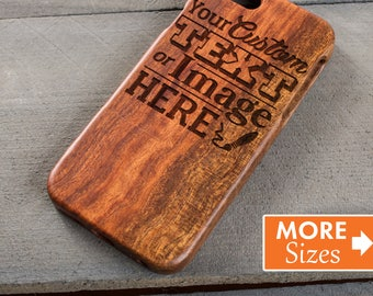 Gift For Him, iPhone 6 Case, Custom Engraved Phone Case, Wooden Samsung S7, S8, Gift For Girlfriend, Personalized Wood Case, Monogram Case
