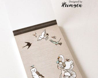 Memo Pads - Birds - 120 x 80mm, full color, 40 pages
