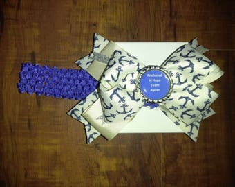 Anchor in Hope Hairbow/Headband