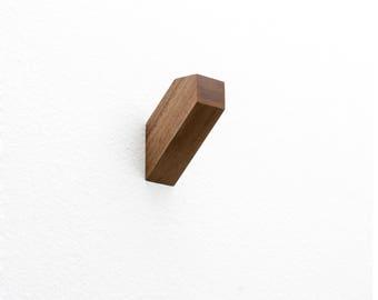 Solid Walnut Wall Hooks - set of 4 or single -  Hallway | Kitchen | Bedroom | Bathroom | Entryway