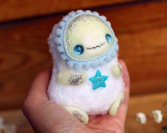ooak doll miniature toy glow figurine creepy doll fantasy creature ghost art creepy toy ooak art