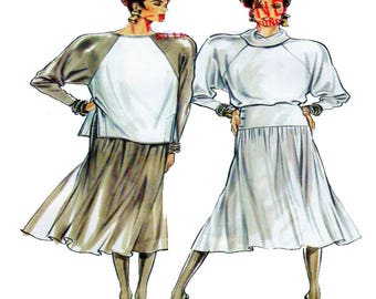 New Look 6062, Women, Dress Set, Sewing Pattern, Raglan Sleeve, Fit Flare Dress, Full Skirt, Long Sleeve Top, Size 8-10-12-14-16-18, UNCUT