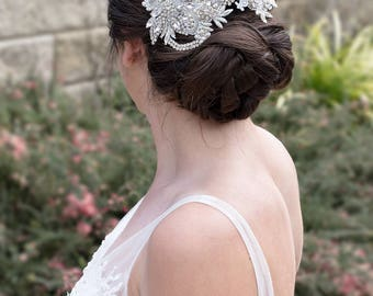 Bridal Headpiece, Wedding headpiece, Lace headpiece,  Headpiece, bridal comb,  Bridal Aacessories, Amelia