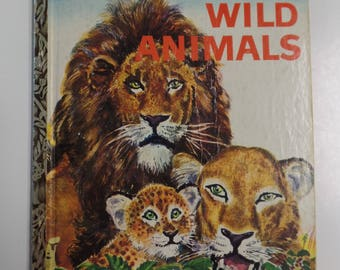 Wild Animals Vintage Little Golden Book 1960
