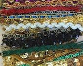 Sparkle Satin Assorted Pieces Mixed Media Trim for Embellishment