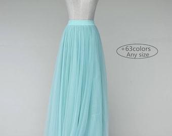 Adult slim floor length tulle skirt,  bridesmaid dress party dress wedding dress