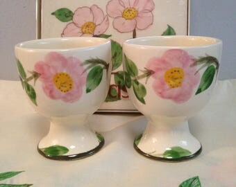2 Franciscan Desert Rose Egg Cups - Set of Two USA Original