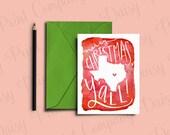 "Texas Christmas Card - ""Merry Christmas, Y'all!"""