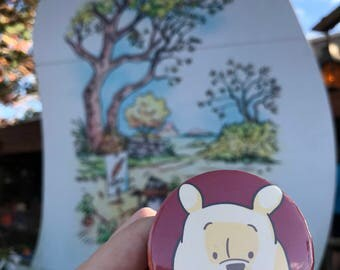 Hundred-Acre Woods Pooh Inspired Fan Art Pinback Button