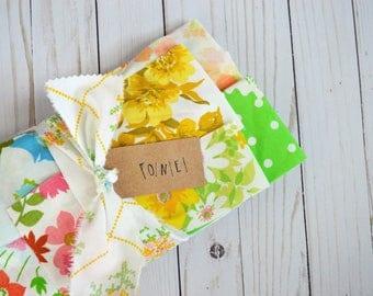 Scrap Pack 01. 12 oz.  MULTI Color. Vintage Sheet Scrap Fabric Bundle. Stash Builder. Floral. Upcycle. Destash.