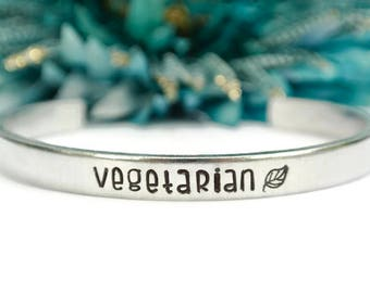 Vegetarian Bracelet | Vegetarian Jewelry | Animal Rights | Plant Based | Gift For Animal Lover | Vegetarian Gift