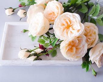 1pc 9pcs peach garden rose roses silk flower david austin roses silk flowers for diy - Peach Garden Rose
