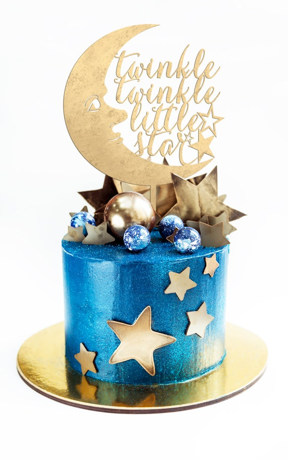 Twinkle Twinkle Little Star Cake Topper, Baby Shower Cake Topper, Baby Cake Topper, Gender Reveal Cake Topper, Little Star Cake Topper
