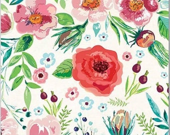 Full Package of 20 Cocktail Napkins for Decoupage and Paper Crafts, Wild Berry Blossom
