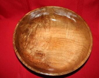 235 Large Myrtlewood Bowl with 2 Black Ringson Outside