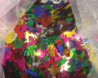 15g Mixed Christmas Sequins, Boxes, angels, stars, reindeer, snowman and lots more
