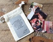 Personalized Photo Wallet Card- Custom Text & Photo Printing in Metal Card - Keepsake Card - Picture Wallet Insert - Military Gift