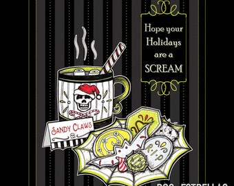 SANDY CLAW'S COOKIES //  Spooky Holiday Cards