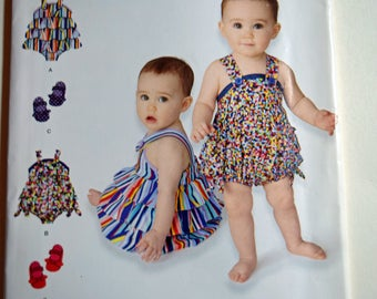 Baby Romper and Shoe Uncut Simplicity Pattern 1594