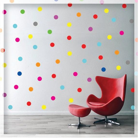 Polka Dot Wall Decal Rainbow Polka Wall Decals Polka Dot - Wall decals polka dots