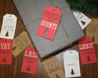 FUNNY CHIRSTMAS Gift TAGS - Funny Present Tags - Funny Gift Labels - Present Labels - Gift Labels - Christmas Labels - Gift Tags