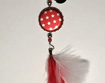 Limited Edition - Bottle Cap Fishing Lure - Smirnoff Red, white and berry - Red with Silver Stars