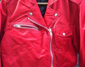 Traditional Nylon Moto Jacket Womens Size S