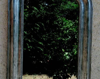 Antique mirror: Silver mirror, Antique Louis-Philippe Mirror, old French mirror.