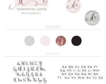 Business Logo Design, Premade Photography Logo Design, Gold Rose Glitter, Calligraphy Logo, Social Media Cover, Initials Logo and Watermark