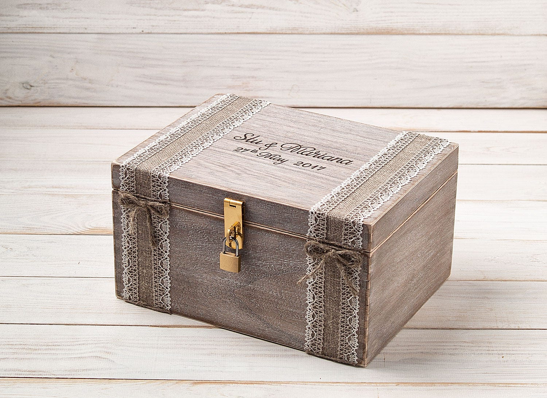 Wedding Gift Post Box: Card Box Wedding Post Box Love Letters Box Keepsake Box Memory