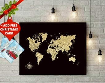 Pin World Map Etsy - Create a us map with pins
