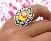 Lemon Drop Handmade Adjustable Ring