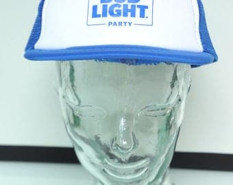 Vintage 90s Budweiser Bud Light Beer Party Trucker Hat