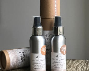 Cloudburst. All Natural Organic Home Fragrance Room Spray. Organic Essential Oil. Orange Blossom and Patchouli. Eco friendly