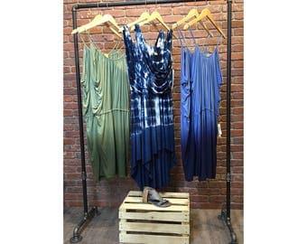 """Industrial Pipe Clothing Rack - Dress Rack - 48"""" Wide"""