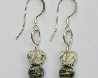 Green Amethyst & Jasper Earrings