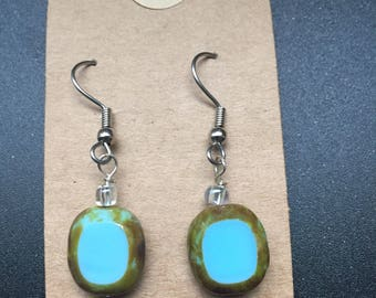 Bead Earrings With or Without Swirls